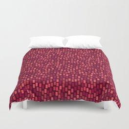 MOSAICS: RED WINE Duvet Cover