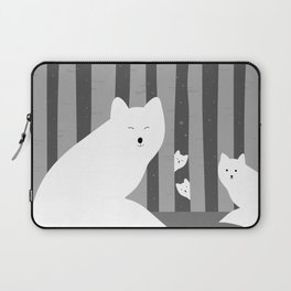 White foxes Laptop Sleeve
