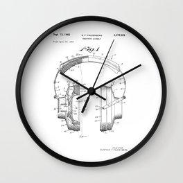 Headphones Patent Wall Clock