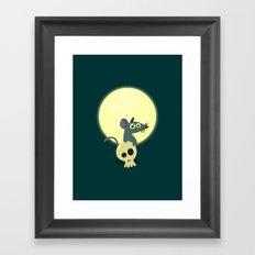 Moon Rat Framed Art Print