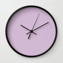 Solid Lilac Thistle Simple Solid Color All Over Print Wall Clock
