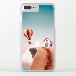 Nowhere to Go But Up Clear iPhone Case