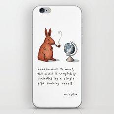 Pipe-smoking rabbit iPhone & iPod Skin