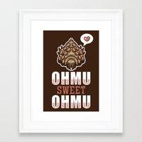 nausicaa Framed Art Prints featuring Ohmu Sweet Ohmu by adho1982