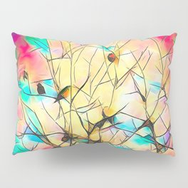 Robins In Trees Pillow Sham