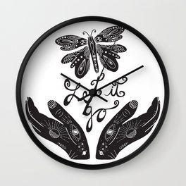 Let It Go typography Wall Clock