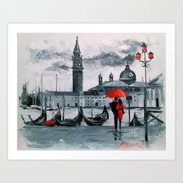Romantic Venice Art Print