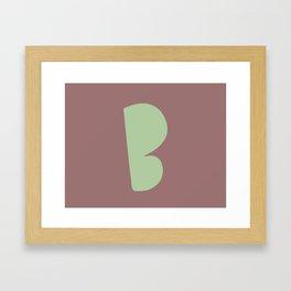 Hand-Lettered B Art Print Framed Art Print