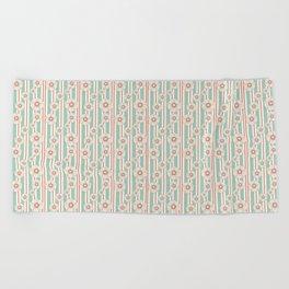 Deco Daisies Beach Towel