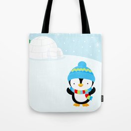 Cute penguin boy #1 Tote Bag