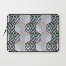 Cubes and silver chevron Laptop Sleeve