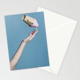 Ice cream acrobatic Stationery Cards