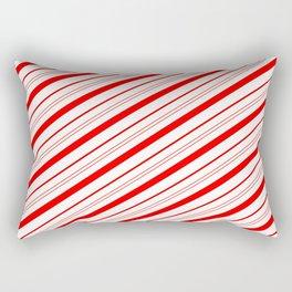 Candy Cane Stripes Rectangular Pillow