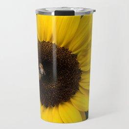 Sunflower with bees Travel Mug