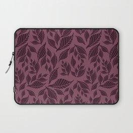 Pastel violet pink black geometrical leaves pattern Laptop Sleeve