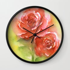 Floral study Wall Clock