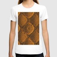 orange pattern T-shirts featuring Power Pattern 04 orange by MehrFarbeimLeben
