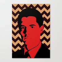 dale cooper Canvas Prints featuring Special Agent Dale Cooper by TwO Owls