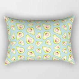 Avocado Pattern - Neo Mint Rectangular Pillow