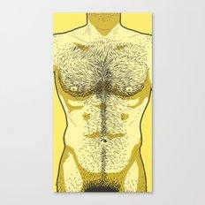 Hairy Torso - Yellow Canvas Print