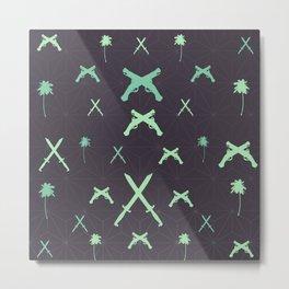 pirate pattern Metal Print