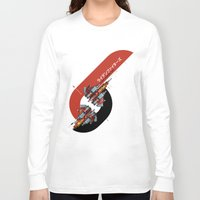 foo fighters Long Sleeve T-shirts featuring Raiden Fighters by Slippytee Clothing