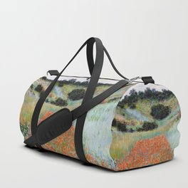 Poppy Field in a Hollow near Giverny by Claude Monet Duffle Bag