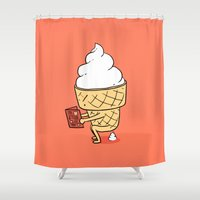 ilovedoodle Shower Curtains featuring Everyone Poops by ilovedoodle by I Love Doodle