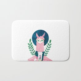 The coffee Llama Bath Mat