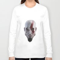 video games Long Sleeve T-shirts featuring Triangles Video Games Heroes - Kratos by s2lart