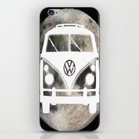 volkswagon iPhone & iPod Skins featuring Moon Wagon by Isaak_Rodriguez