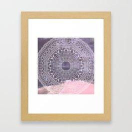 Festival mandala Framed Art Print