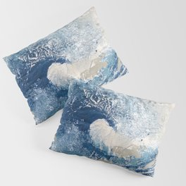 The Great Wave Abstract Ocean Pillow Sham