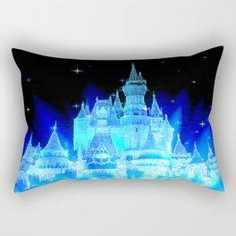 Blue Ice Frozen Enchanted Castle Rectangular Pillow