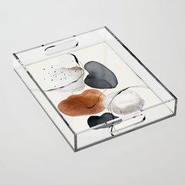 Abstract World Acrylic Tray