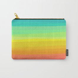 Rainbow abstract colorful Waves inspired Carry-All Pouch