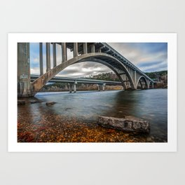 Branson Lake Taneycomo Bridge Art Print