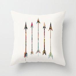 5 Arrows Throw Pillow