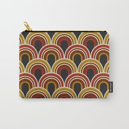 Retro vintage arc black, red and gold pattern. Carry-All Pouch