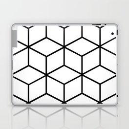 Black and White - Geometric Cube Design I Laptop & iPad Skin