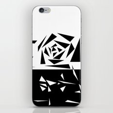Abstract rose. black and white . 1 iPhone & iPod Skin