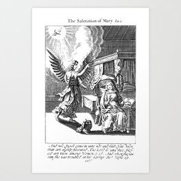 The Angel and Mary Art Print