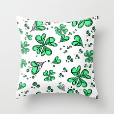 Lucky on my side Throw Pillow