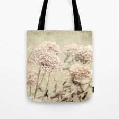 Antique Hydrangeas -- Dreamy Pastel Autumn Botanical Tote Bag