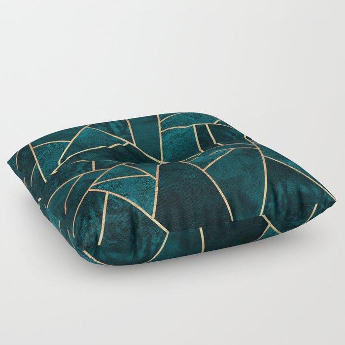 Deep Teal Stone Floor Pillow