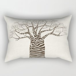 Zebra Tree Rectangular Pillow