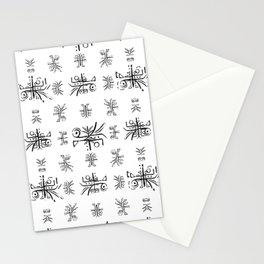 Black and White Ethnic Design Print Stationery Cards