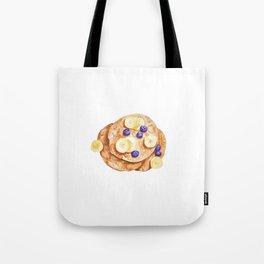 Pancakes breakfast Watercolor Tote Bag