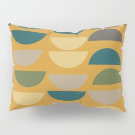Geometric Graphic Design Shapes Pattern in Mustard Yellow Pillow Sham