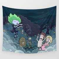 scary Wall Tapestries featuring Spooky Scary by brittonandbaer